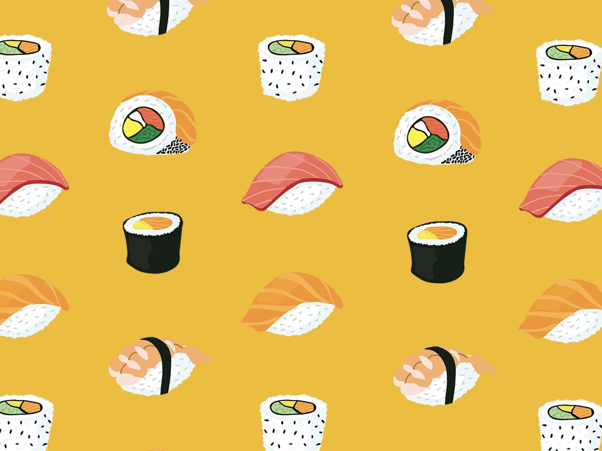 I dream of sushi sushi logo design illustration adobe illustrator
