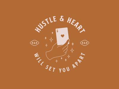 Hustle & Heart logo inspiration icon branding brand design adobe lineart illustration illustrator design
