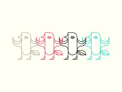4horses From Now animal bird apocalipse vector design minimal line icon illustration lucas braga