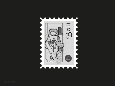 Bali feminime woman stamp girl girl illustration line lucas braga vector design illustration