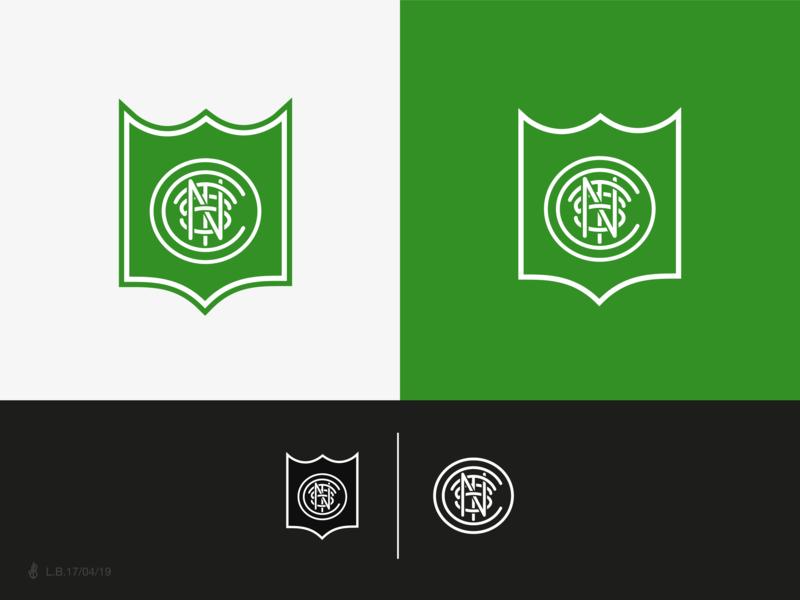 C+N+T+S Monogram for a Soccer Club branding lucas braga logo design brand logotype mark symbol minimal line icon shield badge identity cnts monogram