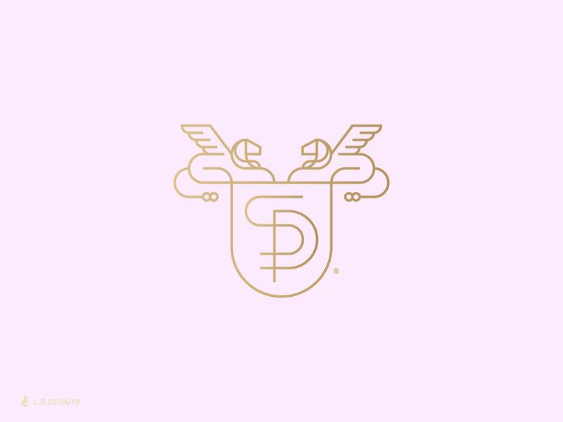 Sophie Palace Logo luxury lion pink pastel branding logotype mark symbol icon sp monogram design brand line minimal logo identity lucas braga