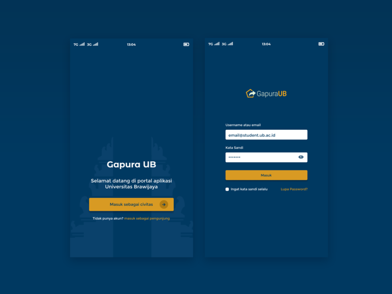 Login Gapura Apps login page login ui design app