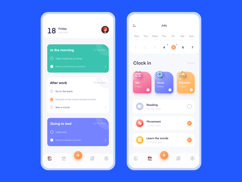 Notepad and check-in procedures ux 插图 设计 ui