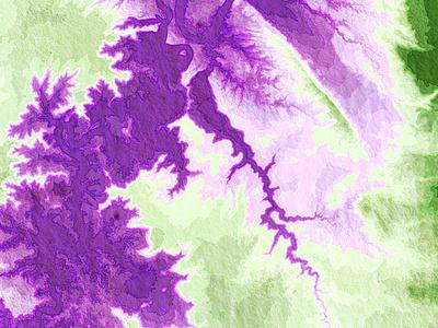 Grand Canyon map terrain watercolor tilemill