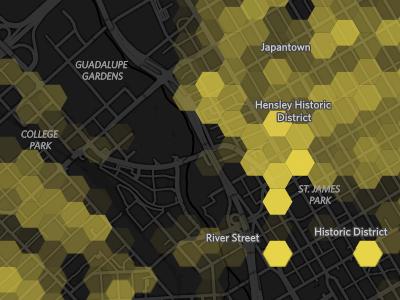 Density map density hexagon