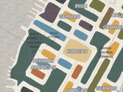 Hell's Kitchen Tribes cities new york map