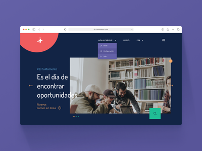 Learning platform ux ui learning landing page above the fold