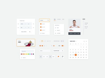 Component collection atomic design components selectors ui kit user interface ui interaction design figma styleguide