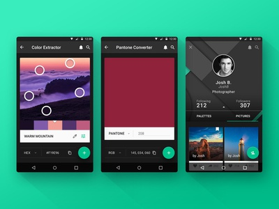 Colorice material design android user interface design user interface ui