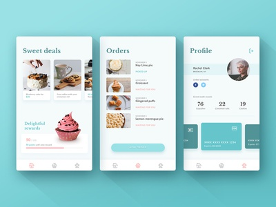 Cupcup desserts pastels cupcake pastry shop ios app ux ui