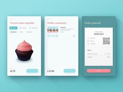 Cupcup desserts cupcake pastry shop pastels ios app ux ui