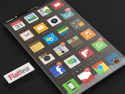 FlatNeue themes icon flat flatneue flat icon icons iphone ipad