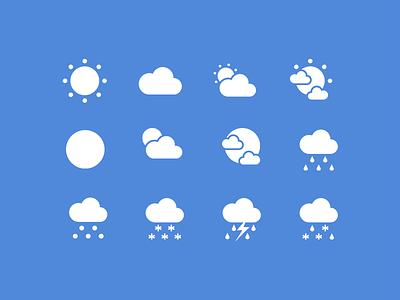 Flat Weather Icon Set weather weather icon icon
