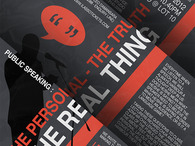 The Personal - The Truth - The Real Thing poster advertising