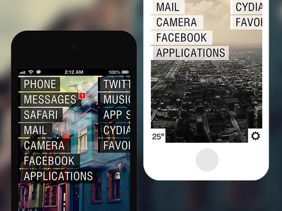 Asymmetric HD themes user interface user experience iphone typography
