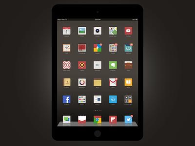 FlatNeue iPad flatneue ipad flat icon theme