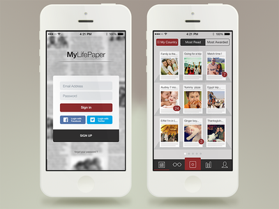 MyLifePaper Redesign redesign interface user interface uiux newspaper app ux ui