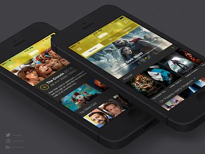 IMDb Redesign Concept reimagine imdb redesign ios7 concept ui user interface uiux ux iphone movie trailer