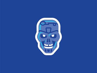 'T-800' Nick Kumbari Rebound Shot destruction angry cyborg robot sci-fi movie head illustration skull exoskeleton terminator t800 kumbari