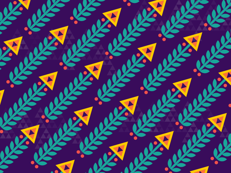 Flower Pattern indigo triangle krychevsky national ukraine flower pattern
