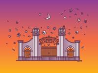 Autumn Palace Gates