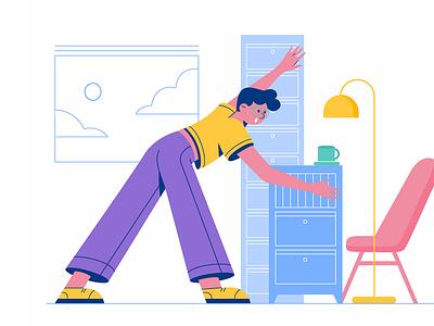 Arrange vector flat company work office hourse home arrange man boy business character illustration