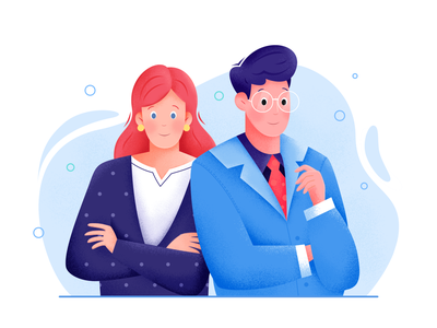 Business gentleman lady profession job career blue couple work office business human person people woman man boy girl character illustration