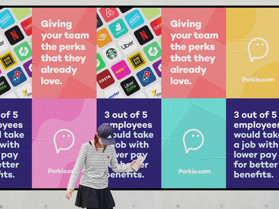 Brand Concept typogaphy startups startup identity design branding concept perkie employee benefits perks advertising campaign marketing poster design poster logo logo design brand identity brand design branding