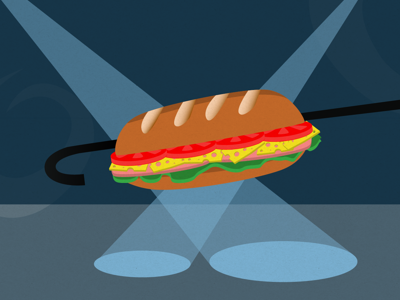 Sammich sandwich vector fun illustration sub spotlight stage