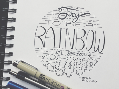 Maya Angelou Quote maya angelou type typography lettering hand lettering quote