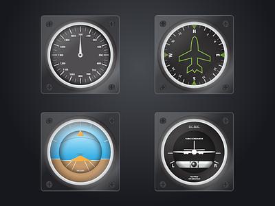 Some WIP Plane Gauges vector plane airplane aviation gauge