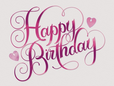 Script Lettering: Happy Birthday