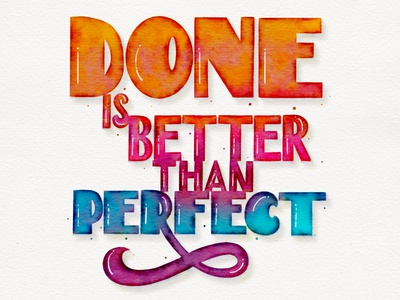 Handlettering: Done is better than perfect