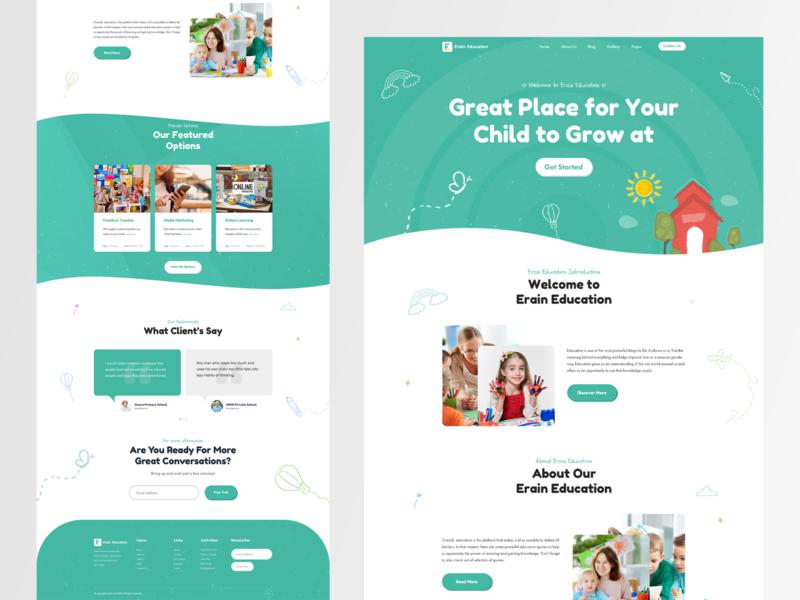 Erain Education Landing Page