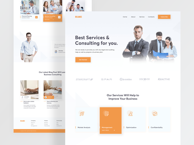 Business Consulting Landing Page creative  design service professional creativity reliance business consulting color minimalist creative web design home page clean ui clean website web ux ui minimal landing page