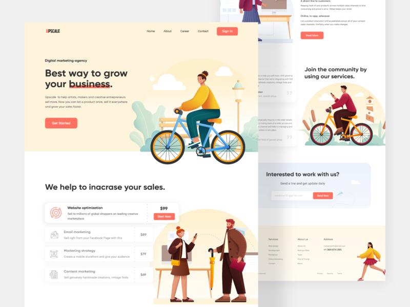 Marketing agency Web Exploration gradient business agency creative color upscale marketing web design home page clean ui clean website web ux ui minimal landing page