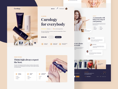 Curology Landing Page concept web page makeup cosmetics fashion shopping ecommerce beauty curology skincare product trendy home page clean ui clean website web ux ui minimal landing page
