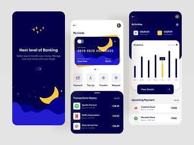 Next Level Banking Mobile App bank card bank app banking app visa card payment financial mastercard finance fintech bank banking mobile design mobile ui mobile app design app design mobile app