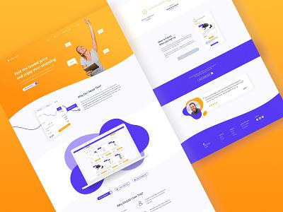 When to Buy dashboard modern clean landing design ux ui shopping e-commerce platform desktop app