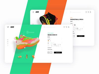 BSK8 Single Product Page branding product design sneakers shop store e-commerce product page clean desktop design ux ui