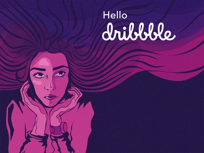 Welcome Shot hello dribble drawing vector first shot hello designer ux ui welcome shot welcome flat design debut shot debut illustration