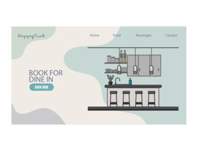 Landing Page for dine in restaurant flatdesign illustrationwork vectorartwork vectordesign vector illustration vectoraldesign vectorillustration illustrator