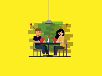 Still remember how is your first dated? illustrationwork vectorwork illustratorartist vectorart illustrator vectorillustration flatdesign vectoraldesign illustration vector