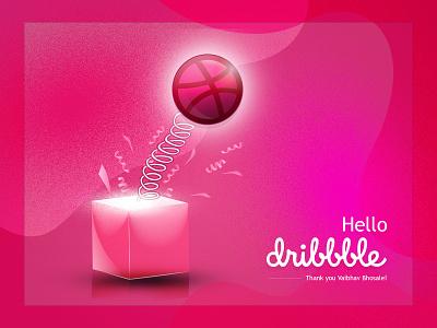 Hello dribbble graphic design hello shots dribbble hello shots invitation debut invite shots shots dribbble invite dribbble first shot