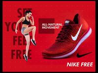 Nike Free design layout - Challenge