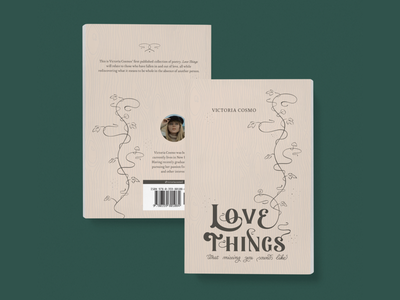Love Things Poetry Book Cover book cover art book cover design poetry publishing illustration lettering book cover book