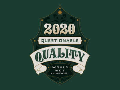 2020 Would not recommend 2020 handlettering badge vector illustration lettering