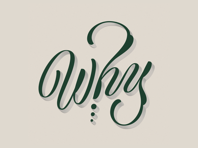 Why why handlettering typography vector lettering