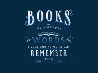 Book Box Quote Commission book box quote design quote illustration vector hand-lettering letters handlettering type typography lettering